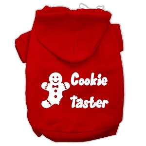 Cookie Taster Screen Print Pet Hoodies Red Size Med (12)
