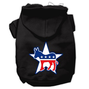 Democrat Screen Print Pet Hoodies Black Size XL (16)
