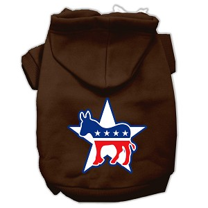 Democrat Screen Print Pet Hoodies Brown Size XXXL (20)