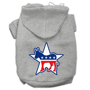 Democrat Screen Print Pet Hoodies Grey Size XL (16)