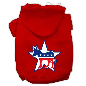 Democrat Screen Print Pet Hoodies Red Size XXXL (20)