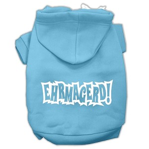 Ehrmagerd Screen Print Pet Hoodies Baby Blue Size Med (12)