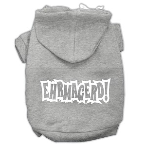 Ehrmagerd Screen Print Pet Hoodies Grey Size Med (12)