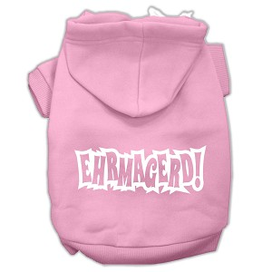 Ehrmagerd Screen Print Pet Hoodies Light Pink Size Med (12)