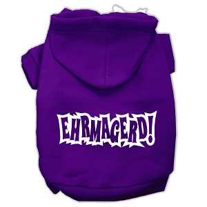 Ehrmagerd Screen Print Pet Hoodies Purple Size XXXL (20)