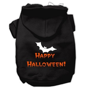 Happy Halloween Screen Print Pet Hoodies Black XL (16)