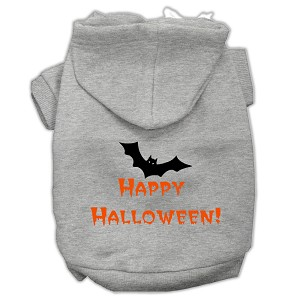 Happy Halloween Screen Print Pet Hoodies Grey XL (16)