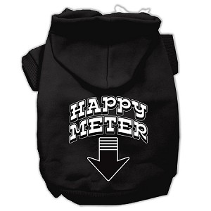 Happy Meter Screen Printed Dog Pet Hoodies Black Size Med (12)
