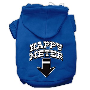 Happy Meter Screen Printed Dog Pet Hoodies Blue Size Sm (10)