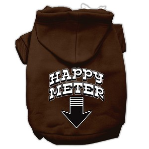 Happy Meter Screen Printed Dog Pet Hoodies Brown Size XL (16)