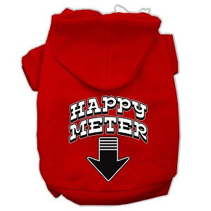 Happy Meter Screen Printed Dog Pet Hoodies Red Size XL (16)