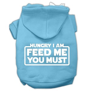 Hungry I am Screen Print Pet Hoodies Baby Blue Size XXXL (20)
