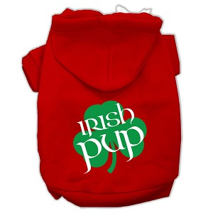 Irish Pup Screen Print Pet Hoodies Red Size XXXL (20)