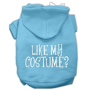 Like my costume? Screen Print Pet Hoodies Baby Blue Size S (10)