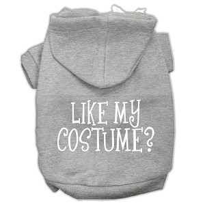 Like my costume? Screen Print Pet Hoodies Grey Size S (10)