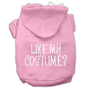 Like my costume? Screen Print Pet Hoodies Light Pink Size XL (16)