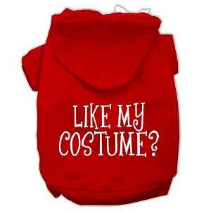Like my costume? Screen Print Pet Hoodies Red Size XL (16)