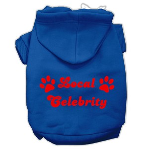 Local Celebrity Screen Print Pet Hoodies Blue Size Lg (14)