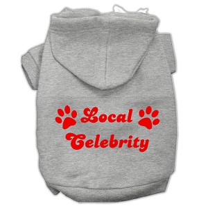 Local Celebrity Screen Print Pet Hoodies Grey Size Sm (10)