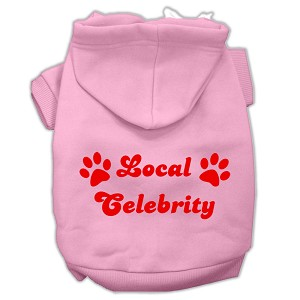 Local Celebrity Screen Print Pet Hoodies Pink Size Lg (14)