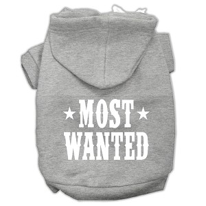 Most Wanted Screen Print Pet Hoodies Grey Size Lg (14)