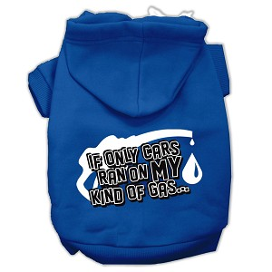 My Kind of Gas Screen Print Pet Hoodies Blue XS (8)