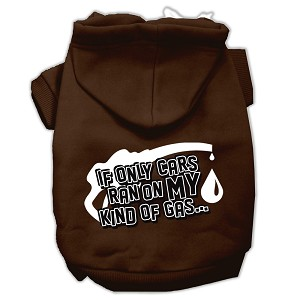 My Kind of Gas Screen Print Pet Hoodies Brown S (10)