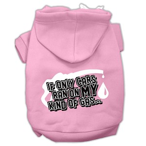 My Kind of Gas Screen Print Pet Hoodies Light Pink Size M (12)