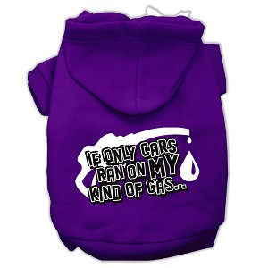 My Kind of Gas Screen Print Pet Hoodies Purple Size M (12)