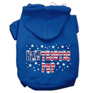 Pawtriotic Pup Screen Print Pet Hoodies Blue Size Lg (14)