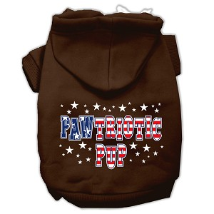 Pawtriotic Pup Screen Print Pet Hoodies Brown Size XS (8)