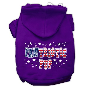 Pawtriotic Pup Screen Print Pet Hoodies Purple Size XS (8)