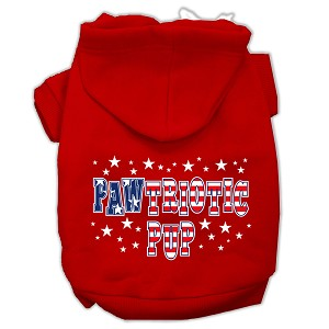 Pawtriotic Pup Screen Print Pet Hoodies Red Size S (10)