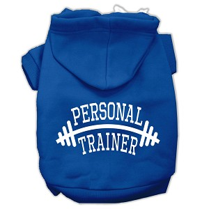 Personal Trainer Screen Print Pet Hoodies Blue Size XXL (18)