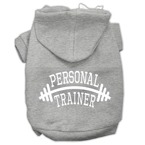 Personal Trainer Screen Print Pet Hoodies Grey Size Lg (14)