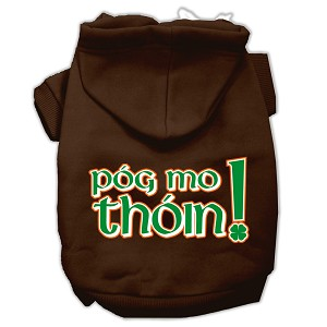 Pog Mo Thoin Screen Print Pet Hoodies Brown Size XXL (18)