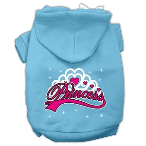 I'm a Princess Screen Print Pet Hoodies Baby Blue Size Lg (14)