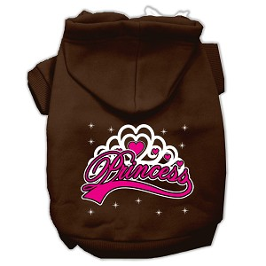 I'm a Princess Screen Print Pet Hoodies Brown Size Sm (10)