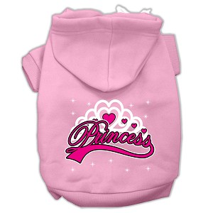 I'm a Princess Screen Print Pet Hoodies Light Pink Size Med (12)
