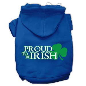 Proud to be Irish Screen Print Pet Hoodies Blue Size XS (8)
