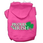 Proud to be Irish Screen Print Pet Hoodies Bright Pink Size Med (12)