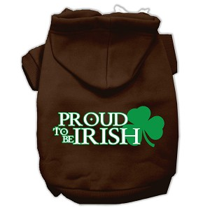 Proud to be Irish Screen Print Pet Hoodies Brown Size XXXL (20)