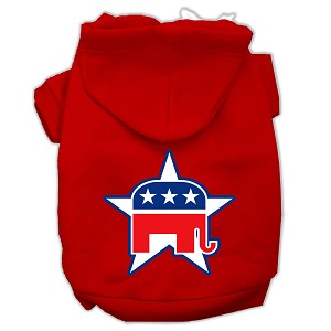 Republican Screen Print Pet Hoodies Red Size XL (16)