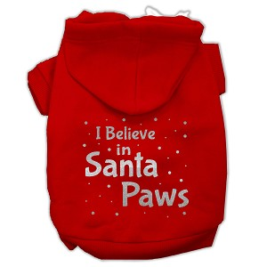 Screenprint Santa Paws Pet Hoodies Red Size Sm (10)