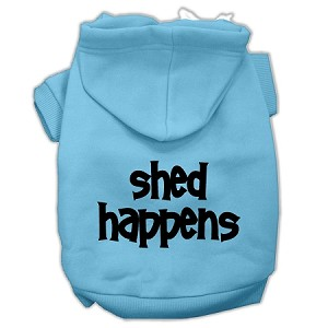 Shed Happens Screen Print Pet Hoodies Baby Blue Size Med (12)