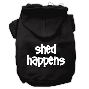 Shed Happens Screen Print Pet Hoodies Black Size Lg (14)