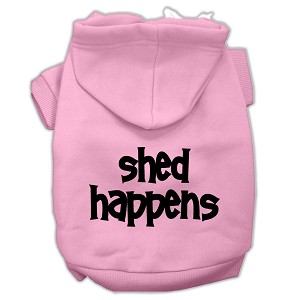 Shed Happens Screen Print Pet Hoodies Light Pink Size Med (12)