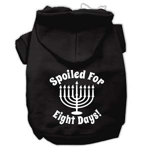Spoiled for 8 Days Screenprint Dog Pet Hoodies Black Size XXXL (20)