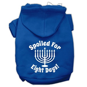 Spoiled for 8 Days Screenprint Dog Pet Hoodies Blue Size XXL (18)