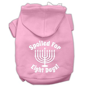 Spoiled for 8 Days Screenprint Dog Pet Hoodies Light Pink Size XL (16)